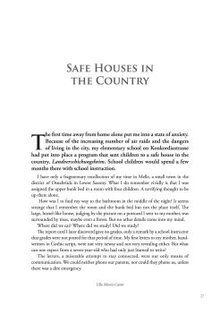 Safe Houses in the Country
