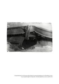 Bomb Hole in Düsseldorf home 1940