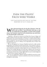 Even the Pilots' Faces were Visible 1944 WW2